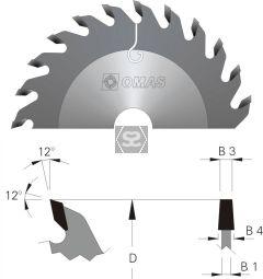 OMAS Scoring Blade D=200 B3=4.3 B4=5.5 Z=36 d=22