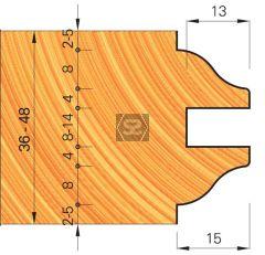 OMAS 421-7 Adjustable Door Moulding Set d=40 D=164