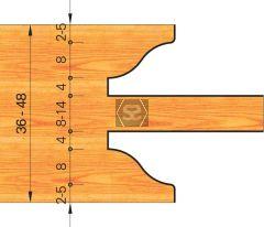 OMAS 422-1 Door Profiling Set d=30 D=290 Z=4 MEC*