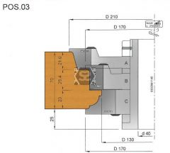 Omas 93179 trad Frame profile set A+B+C pos 03