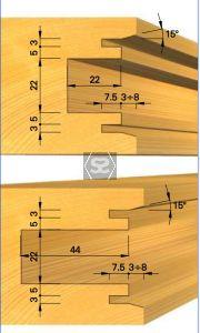 OMAS K439-1 Cutter Head Set for Sliding Doors d=40