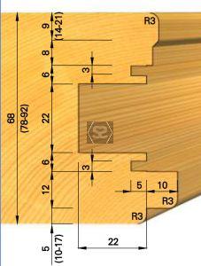 OMAS K439-3 Tool for Sliding Door Hardware d=30