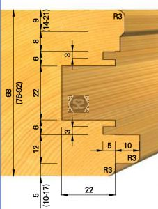 OMAS K439-3 Tool for Sliding Door Hardware d=40
