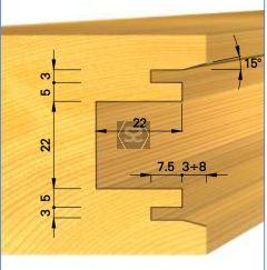 OMAS K439B Cutter for Sliding Doors d=30 D=160 Z=2