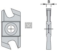 OMAS K48017E000 Carbide Grooving Tip B=4.0