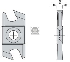 OMAS K48017F000 Carbide Grooving Tip B=5.0
