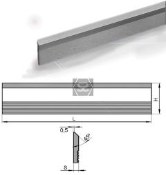 Hss Serrated Cutter L = 650 Hxs = 35x4 M2