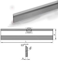 Hss Serrated Cutter L = 650 Hxs = 60x6 M2