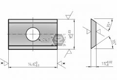 L=14.6 W=8 T=1.5 Disposable Tungsten Blade Box/10