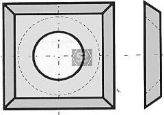 L=13 W=13 T=2.5 d=4 TC Blades Box/10