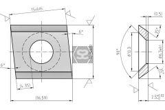 Scraper Blades for Brandt 15x14.3x2.5 RH