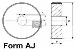 Steel Feed Roller D=090 B=45 D=25 K=8
