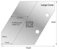 Whitehill 30 Deg Angled Blank 70 x 85 x 6 Large