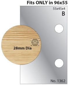 Whitehill 32mm Dowel Cutters 1362