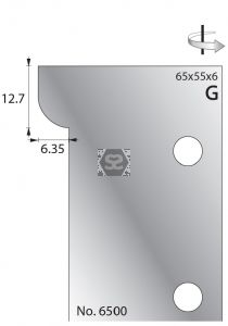 Whitehill 65mm Scribing Cutters [pr]  no.6500