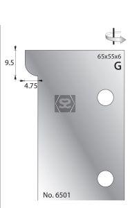 Whitehill 65mm Scribing Cutters [pr]  no.6501