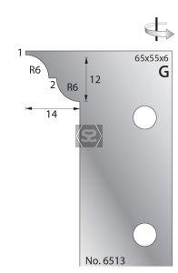 Whitehill 65mm Scribing Cutters [pr]  no.6513