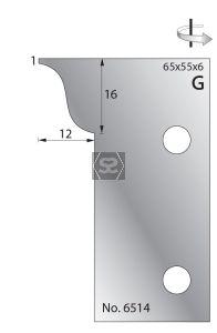Whitehill 65mm Scribing Cutters [pr]  no.6514