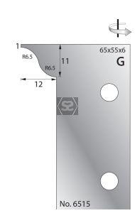 Whitehill 65mm Scribing Cutters [pr]  no.6515