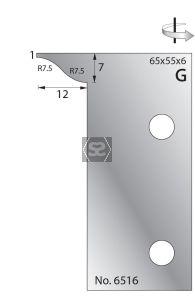 Whitehill 65mm Scribing Cutters [pr]  no.6516