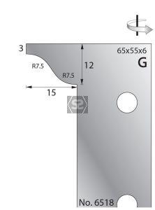 Whitehill 65mm Scribing Cutters [pr]  no.6518