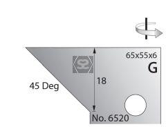 Whitehill 65mm Scribing Cutters [pr]  no.6520