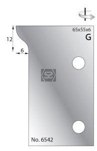 Whitehill 65mm Scribing Cutters [pr]  no.6542