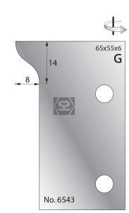 Whitehill 65mm Scribing Cutters [pr]  no.6543