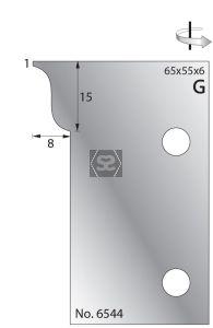 Whitehill 65mm Scribing Cutters [pr]  no.6544