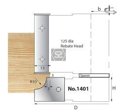 Whitehill 1401 TC Mould Head D=125 x 20 d=30