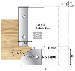 Whitehill 1408 TC Mould Head 119 x 20 d=1 1/4