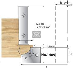 Whitehill 1409 TC Mould Head 119 x 20 x 30mm