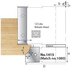 Whitehill 1415 TC Mould Head 105 x 20 x 30