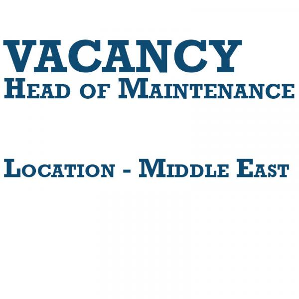 Vacancy - Middle East