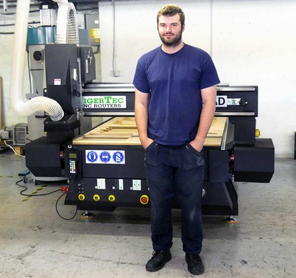 Cecence take delivery of their new TigerTec CNC Router