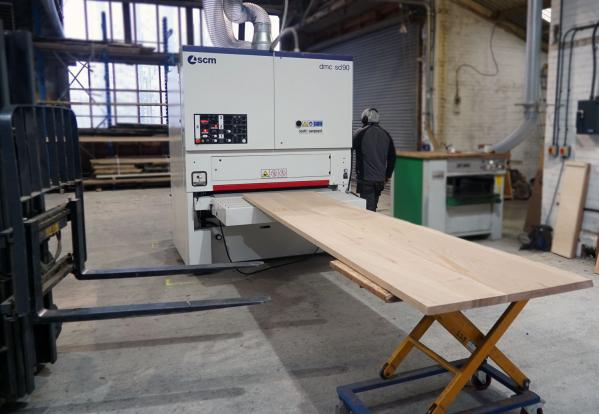 English Woodlands DMC 1300 Wide Planer & Sander Increases Production and Improves Finish