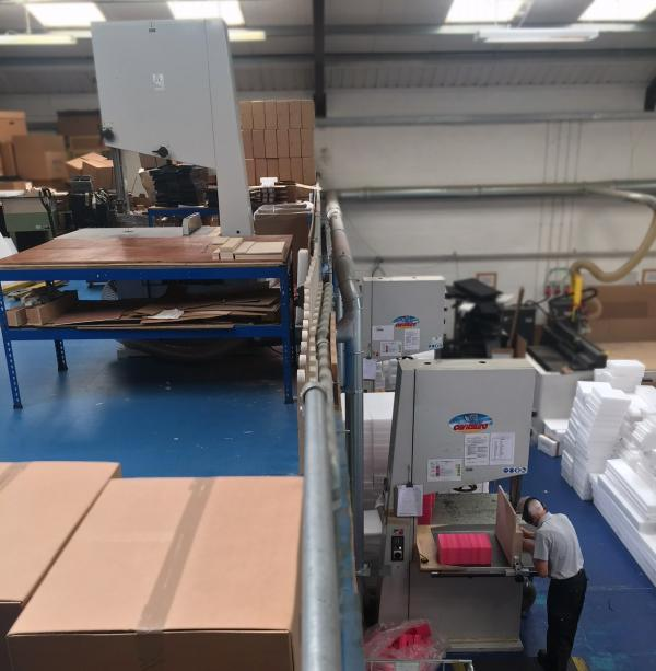 Packaging Specialist L P Foreman orders their 3rd Centauro Bandsaw