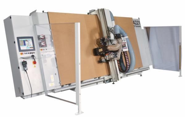 Casadei Industria's Vertical CNC Router - Processing Composites