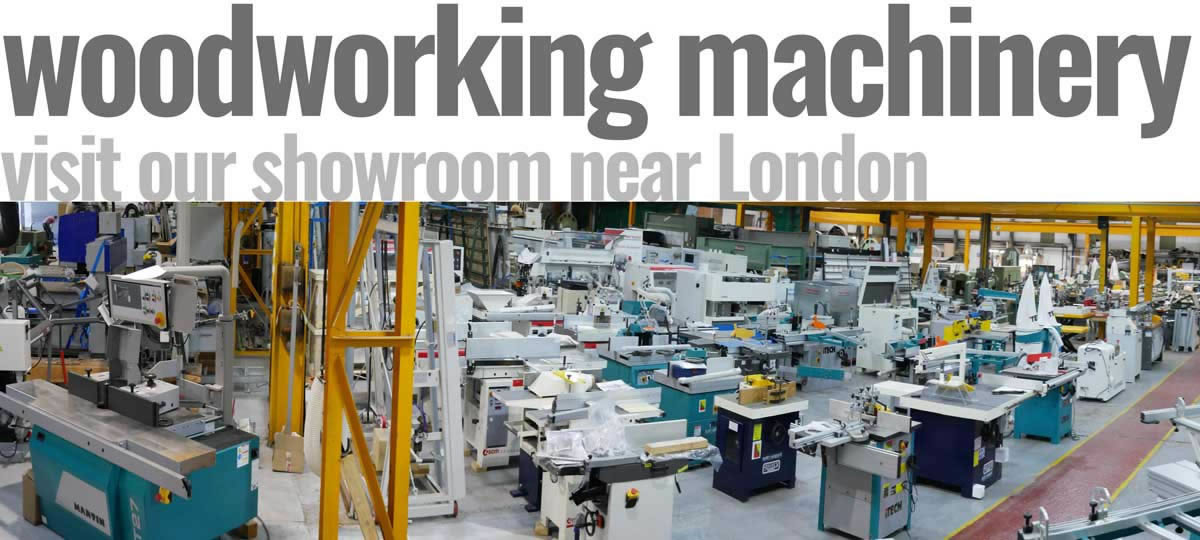 Used Woodworking Machinery Showroom Near London