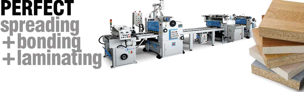Glue Spreaders Laminating and machines