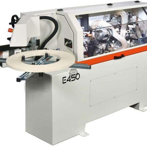 The new Casadei Industria E450 Premilling compact edgebander - high performance and a small foot print.